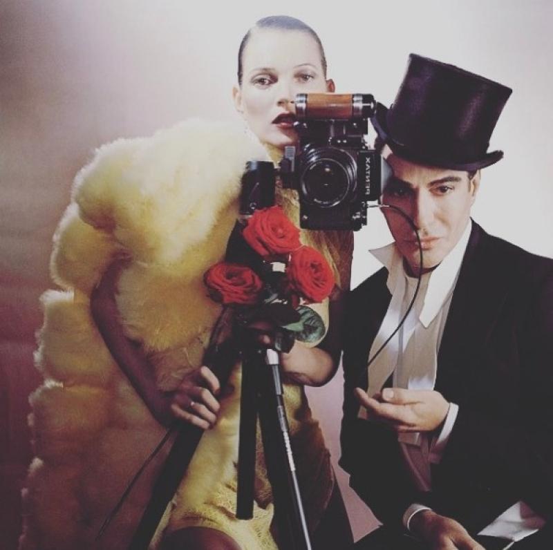 Гальяно иКейт Мосс дружат на протяжении многих лет / instagram.com/johngallianoofficial