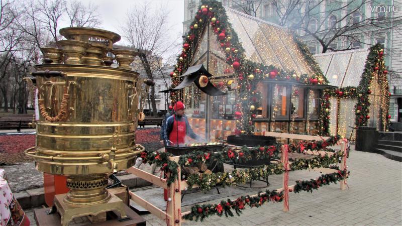 Огромный самовар и мангал на Тверском бульваре / Диана Воронкова, юнкор