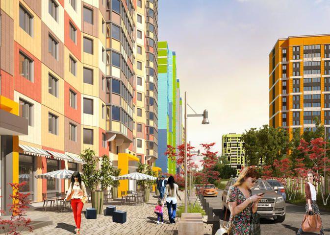 Проект квартальной застройки на улице Базовской в Москве. Его реализация уже началась. Суть в том, что вся общественная среда формируется вдоль улиц, которые делят район на несколько кварталов. При этом пространство внутри квартала остается приватным