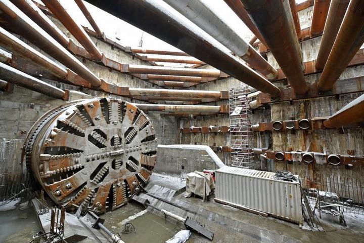 25 января 2018 года. Десятиметровый щит «Лилия» прошел свой первый тоннель / Комплекс градостроительной политики и строительства Москвы