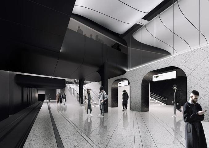 Проект станции метро Большой кольцевой линии «Кленовый бульвар» / Комплекс градостроительной политики и строительства Москвы