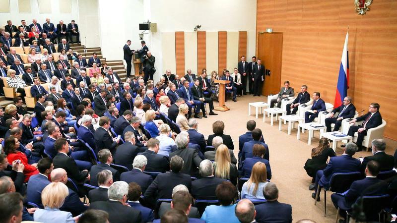 Встреча кандидата на пост Председателя Правительства РФ Дмитрия Медведева с фракцией «Единая Россия» / http://www.duma.gov.ru
