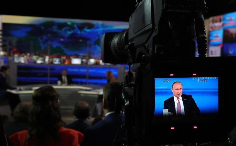 Линиюбудут транслировать ведущие российские телерадиокомпании / Официальный сайт Кремля