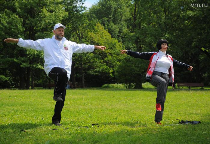 """Опробовать гости парка смогли и китайскую гимнастику цигун / Александр Кожохин, """"Вечерняя Москва"""""""