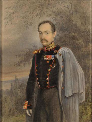 Этот акварельный рисунок Кибовский нашел в Эстонском художественном музее. Как удалось выяснить историку, на нем изображен барон фон дер Пален