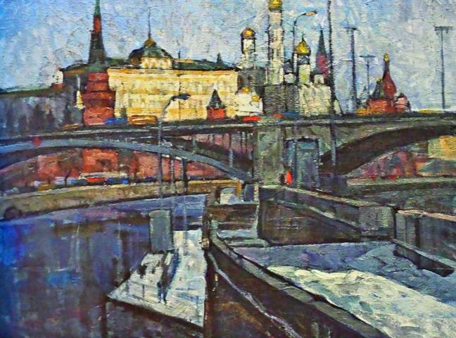 Работа художника Юрия Рогозина: Московский Кремль 1950-е годы / Anton GERDO