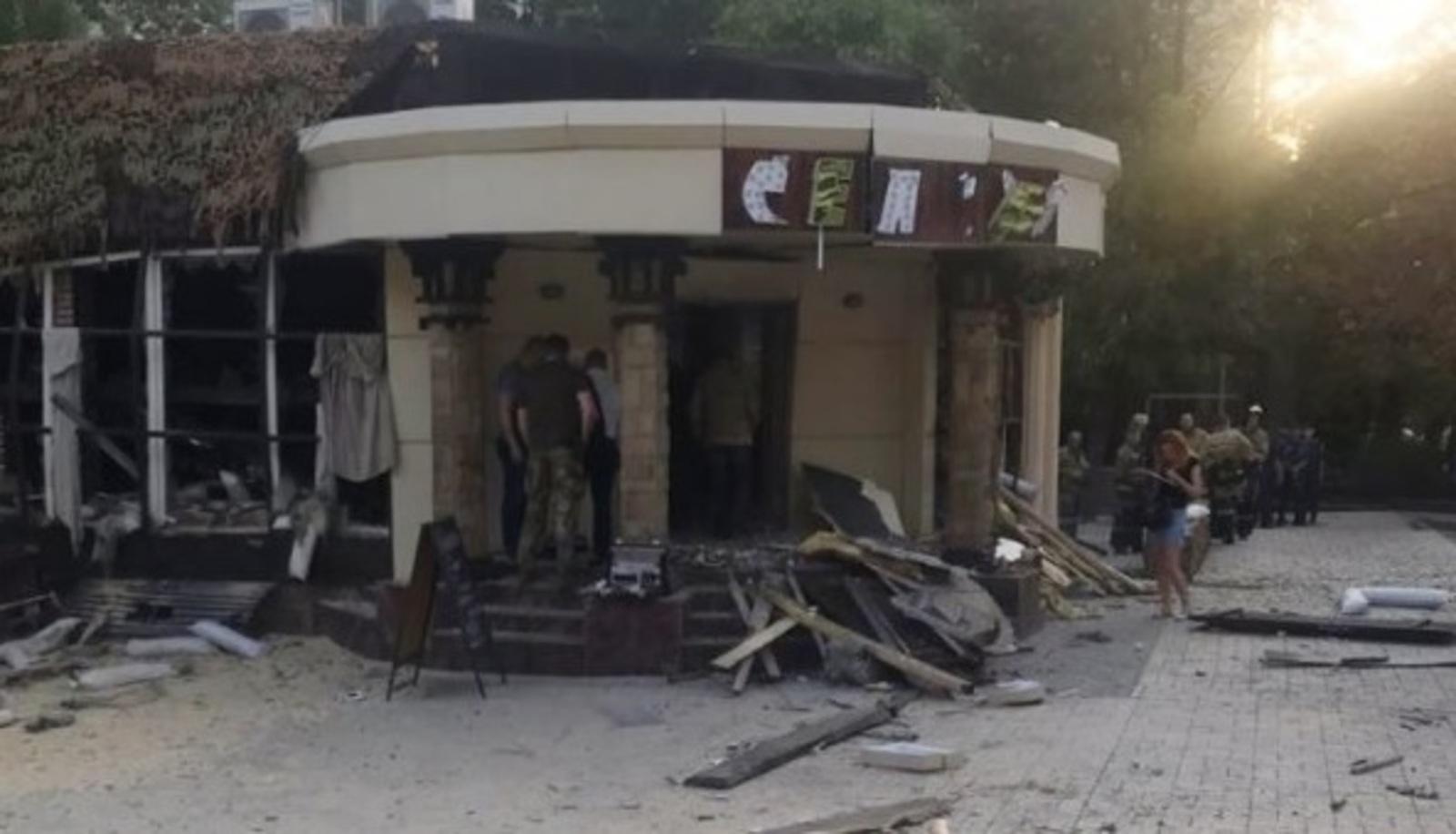 Взрыв произошел в ресторане Сепар в центре Донецка