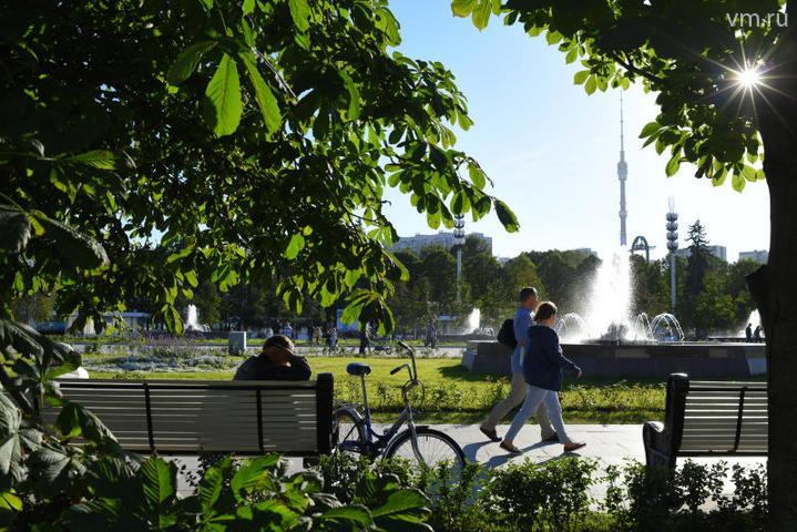"""Впарке высажено около 7000 декоративных деревьев и кустарников и 61 000 многолетних цветов / Александр Кожохин, """"Вечерняя Москва"""""""