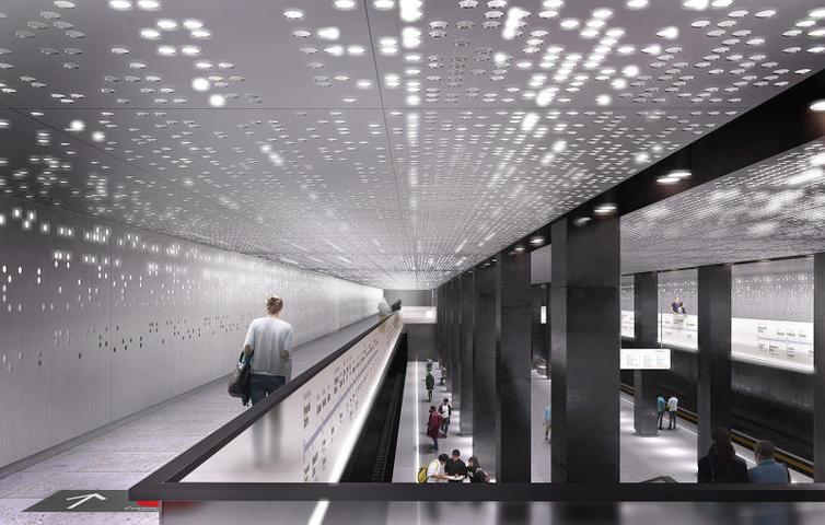 Проект станции метро«Стромынка» / https://stroi.mos.ru