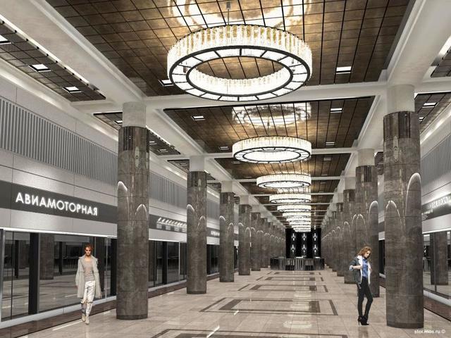 Проект станции метро«Авиамоторная» / https://stroi.mos.ru