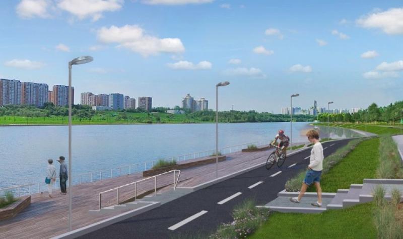В парке будет велодорожка протяженностьюоколо трех километров / mos.ru