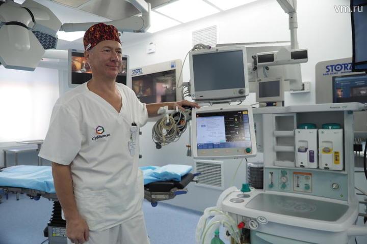 """В центре активно проводятся и роботические операции с использованием хирургических роботов Da Vinchi / Антон Гердо, """"Вечерняя Москва"""""""