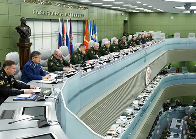 Помимо этого, на совещании были подведены итоги учения «Океанский щит», которое прошло в начале сентября в Средиземном море / Официальный сайт Министерства Обороны Российской Федерации