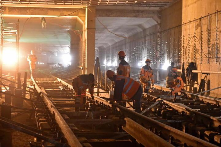 Две станции строятся в подземном исполнении, на глубине 30 метров. Еще две расположатся на поверхности / Михаил Колобаев / Комплекс градостроительной политики и строительства города Москвы