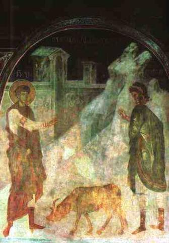 Дамиан. «Св. Георгий воскрешает павшего вола», Грузия / Wikipedia / Общественное достояние
