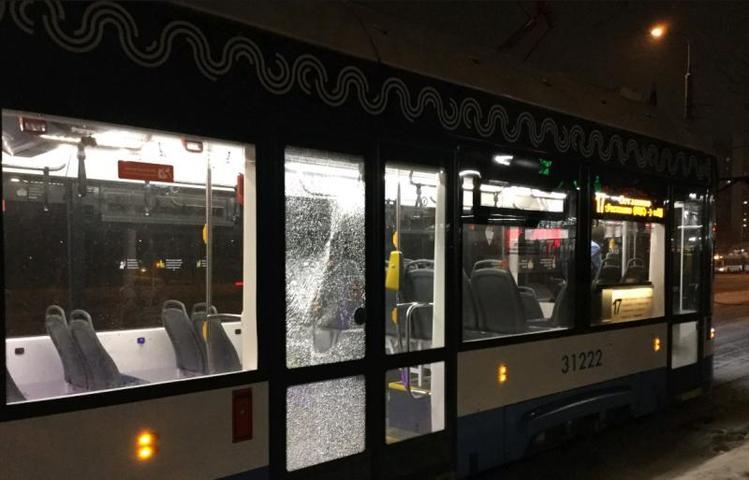 Авария с участием трамвая произошла на юге Москвы