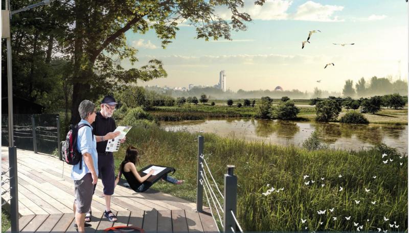 Одним из решений транспортной связи здесь могло бы стать строительство моста через Химкинское водохранилище / Предоставленно Москомархитектурой