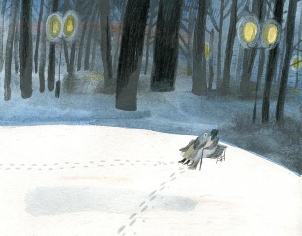 Работы Ольги Пташникиз зимнего цикла картин / иллюстрации Ольги Пташник