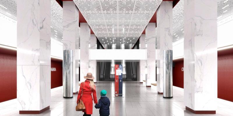 Проектное решение станции «Стромынка» Большой кольцевой линии метро / официальный сайт мэра Москвы