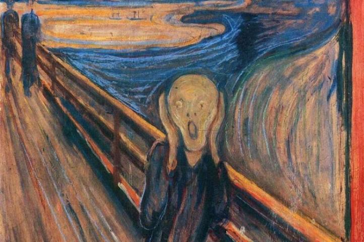 Картина «Крик» — обессмертившая имя Мунка — также будет представлена наэкспозиции в одной из четырех вариаций / Фотография с официального сайта «Артхив» https://artchive.ru/