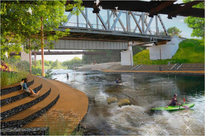 Для отдыха и спуска к реке будут обустроены площадки и дорожки с возможностью проезда спецтехники / личный блог Сергея Собянина