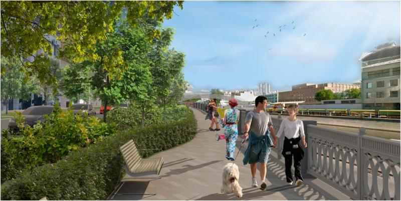 Входе реконструкции будутрасширены тротуары, чтобы отдыхающим было комфортно находиться у воды / личный блог Сергея Собянина