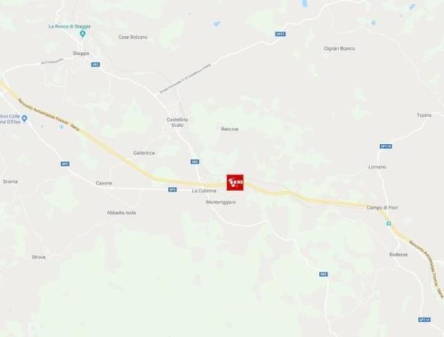 Место, где произошло ДТП с участием туристического автобуса / Сайт итальянской газеты Corriere Fiorentino