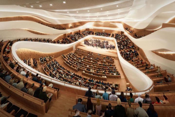 Концертный зал «Зарядье» был открыт в сентябре прошлого года, а до конца 2019-го в нем планируется установить уникальный орган / Пресс-служба Стройкомплекса Москвы