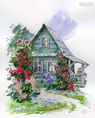 """Дом, обвитый розой, напоминает кукольный. И в нем живет, будто постаревшая Барби, Тэмара. / Нина Бурдыкина, """"Вечерняя Москва"""""""