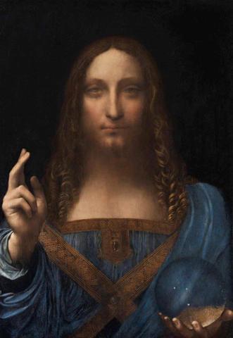 Картина «Спаситель мира» Леонардо да Винчи (https://artchive.ru/)