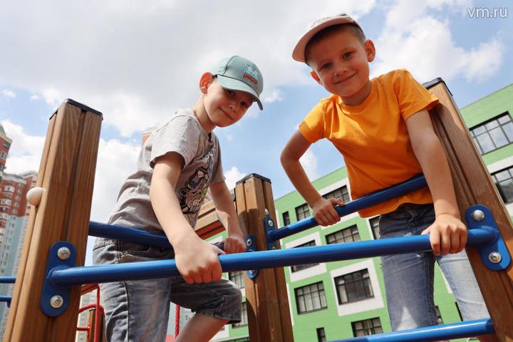 Новые детские площадки установят в парке Капотни