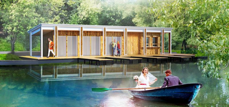 В рамках благоустройства в Люблинском парке построят лодочный причал и мостики для рыбаков / Пресс-служба департамента капитального ремонта