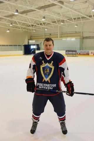 Андрей Кулагин на тренировке по хоккею / из личного архива Андрея Кулагина