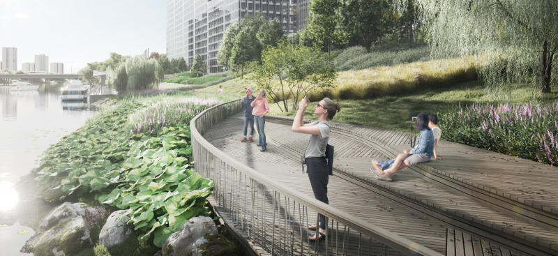 Проектом предусмотрено все функциональное наполнение, необходимое для полноценного отдыха горожан на берегах Москвы-реки / предоставлено Москомархитектурой