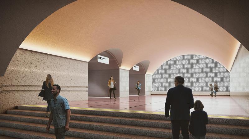 Дизайн-концепцию станции «Ржевская» выбрали в ходе открытого международного конкурса на разработку архитектурно-художественных концепций станций метро / Предоставлено Стройкомплексом города Москвы