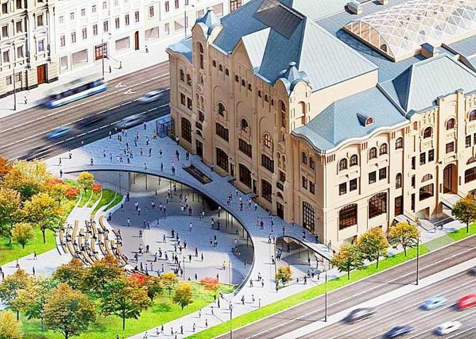 Проект открытого общественного пространства, которое соединит музей с другими городскими объектами / Москомархитектура