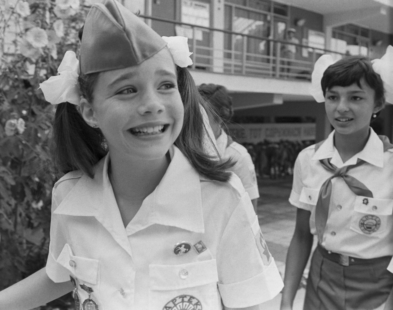 Саманта Смит в «Артеке», 1983 год / Валерий Зуфаров, ТАСС